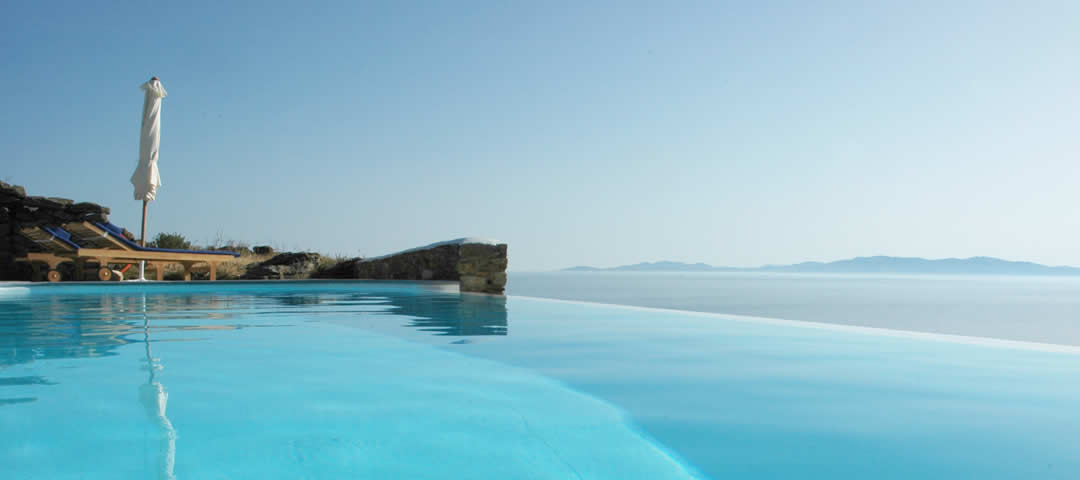 Infinity pool at Vega Apartments, Tinos, Cyclades