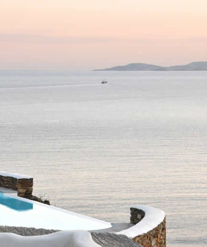 Infinity pool in Tinos island at Vega Apartments