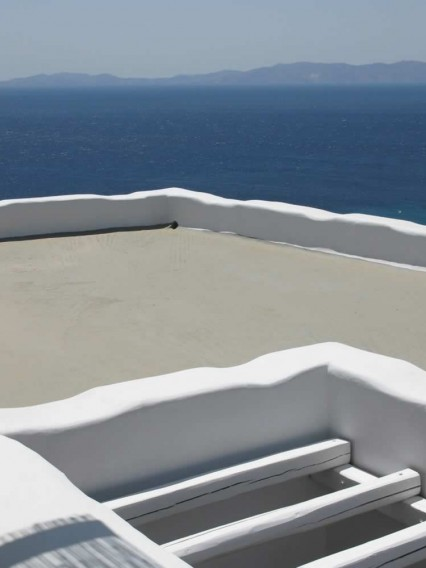 Vega, Studio apartment with double bed, bathroom, kitchen, TV, Vega Apartments in Tinos island, Cyclades